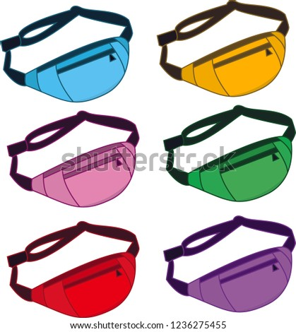 vector image fanny pack