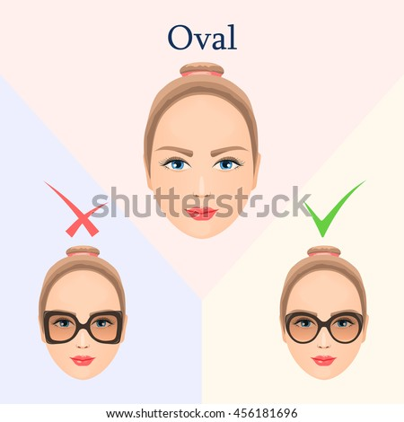 vector image for oval type face