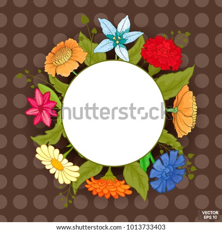 vector image frame with bright