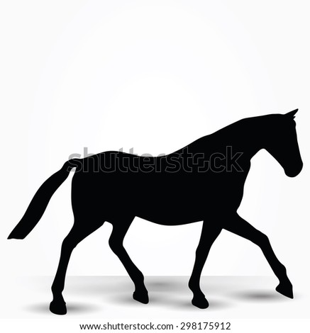 vector image   horse silhouette