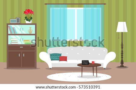 vector image  interior  flat