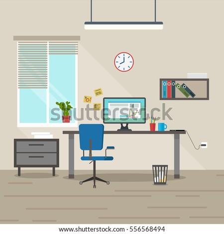 vector image interior