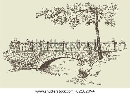 vector image landscape sketch