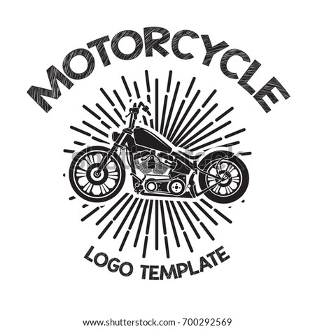 vector image motorcycle logo template
