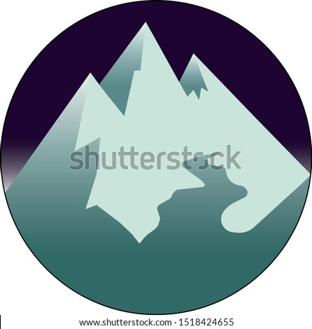 vector image  mountain peaks
