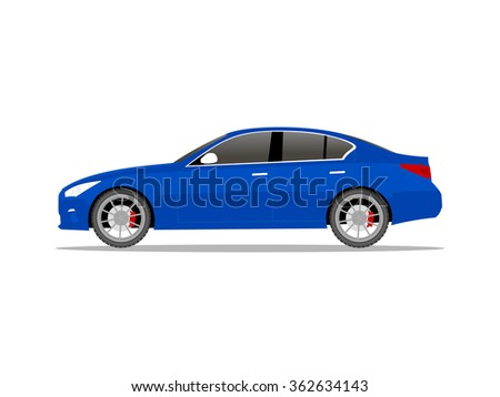 vector image of a blue car