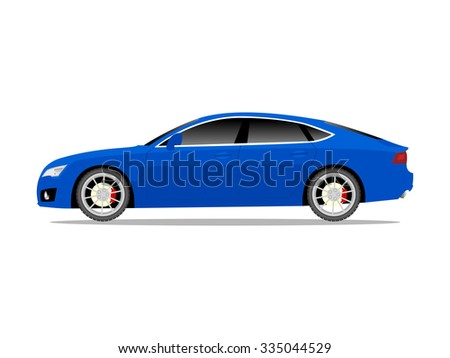 vector image of a blue sports