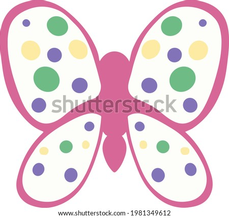 vector image of a colored