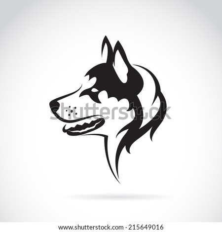vector image of a dog siberian