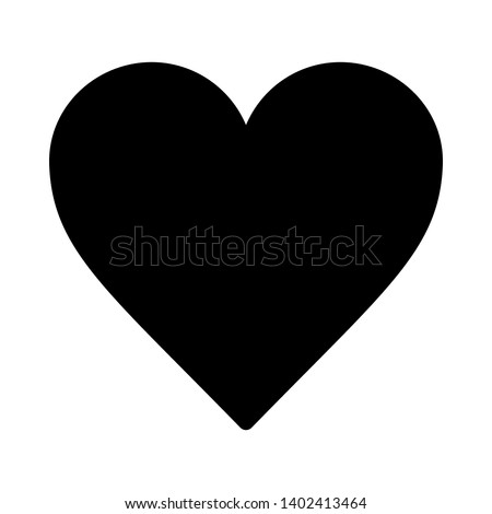 Vector image of a flat, linear heart icon. Isolated heart on a white background