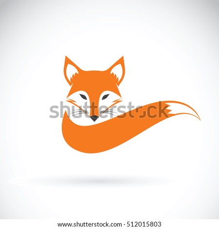 vector image of a fox design on