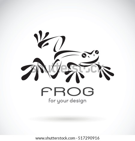 vector image of a frog design