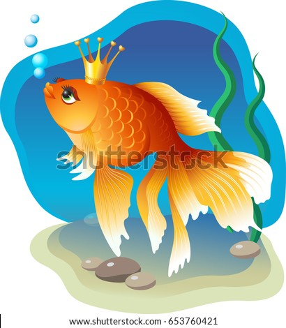 vector image of a goldfish in a
