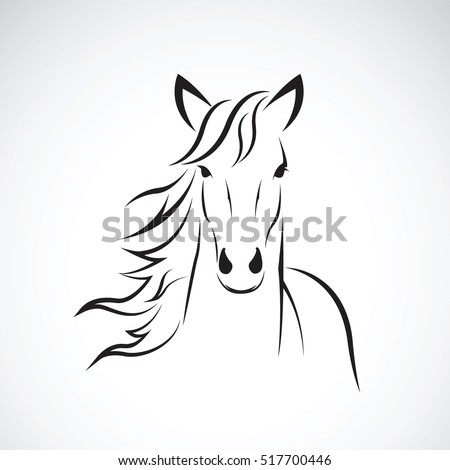 Vector image of a horse head design on white background, Horse Logo. Wild Animals. Vector illustration. Icon