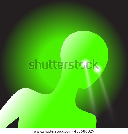 vector image of a humanoid