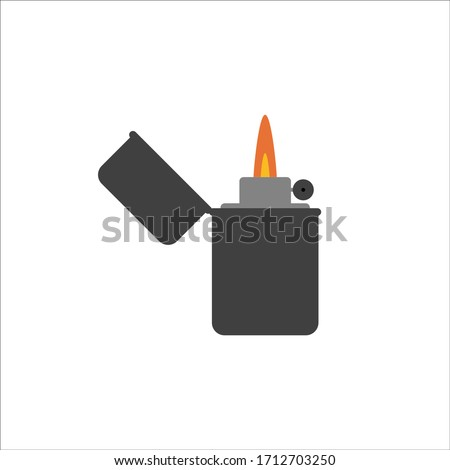 vector image of a lighter on a