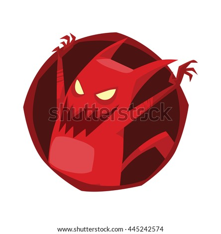 vector image of a round dark