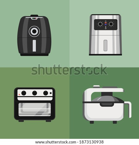 vector image of a set of