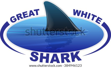vector image of a shark fin