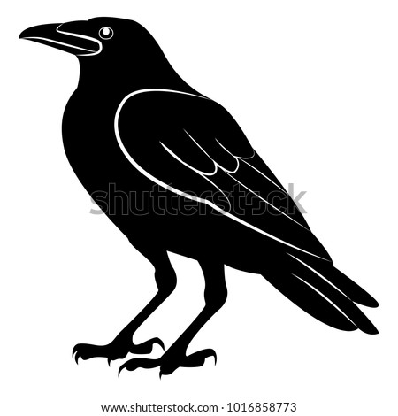 vector image of a silhouette of