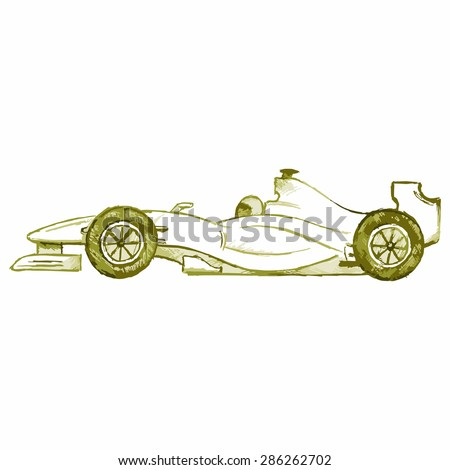 vector image of a sports car