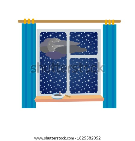 vector image of a window with a