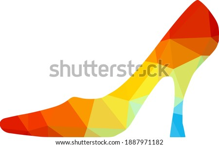 vector image of a woman shoe