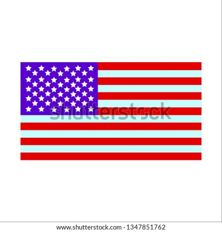 vector image of american flag #1347851762