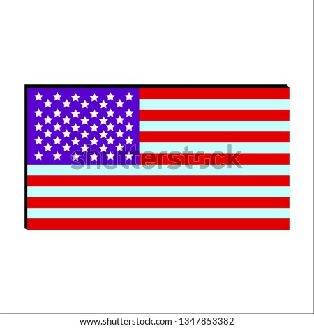 vector image of american flag #1347853382