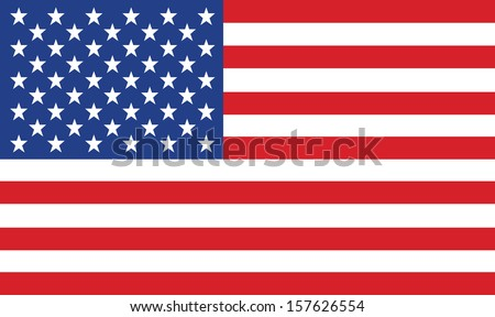 vector image of american flag #157626554