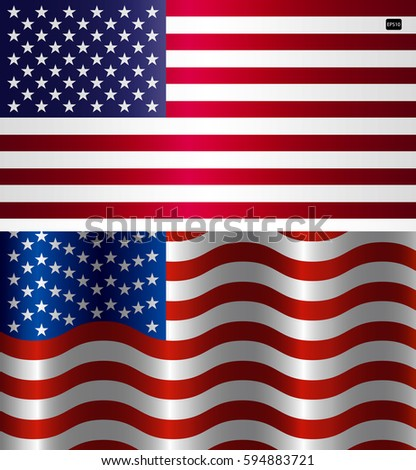 Vector Image Of American Flag Symbol Usa On A White Background