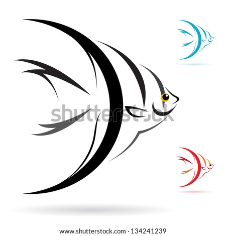 vector image of an angel fish