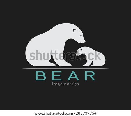 vector image of an bear on