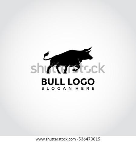 Vector image of an bull design on a white background. Logo, Symbol. t shirt logo design