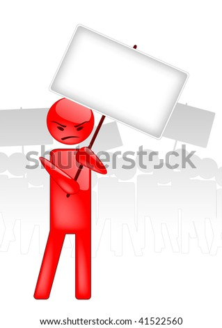 Vector image of an demonstration