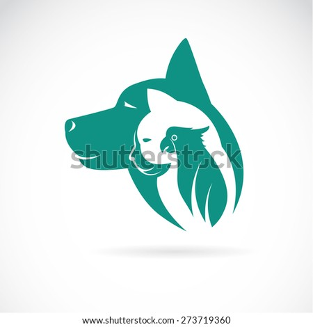 vector image of an dog cat and