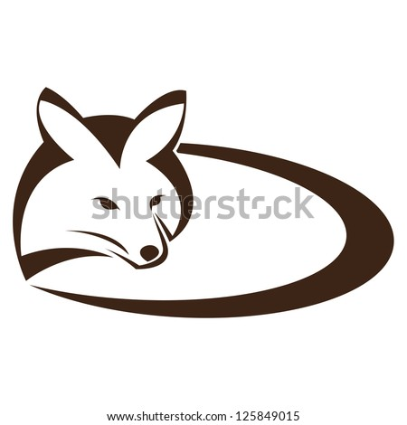 Vector image of an fox on a white background