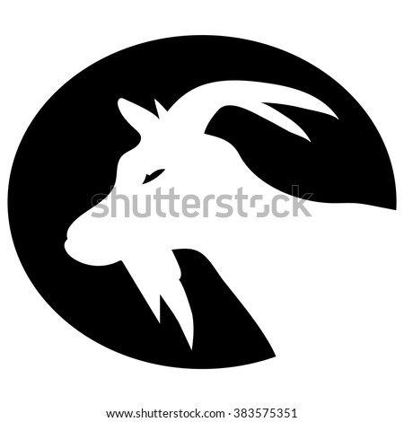 vector image of an goat head on