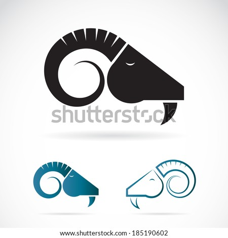 vector image of an goats head