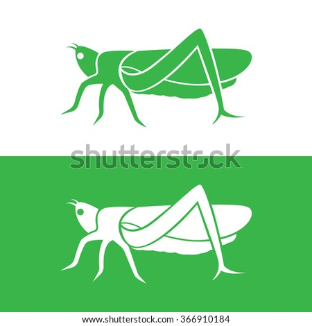 vector image of an grasshopper