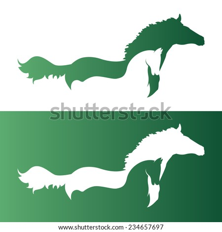 vector image of an two horse