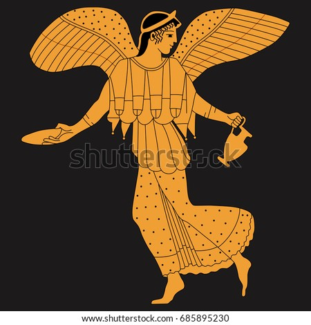 vector image of ancient greek