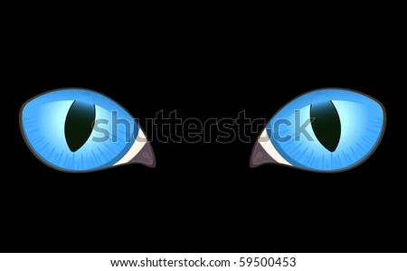 black cat eyes. lack cat eyes in darkness