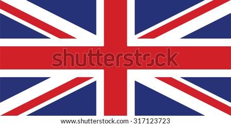 vector image of british flag / UK flag / United Kingdom