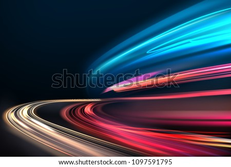 vector image of colorful light