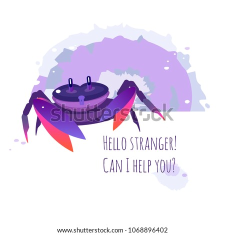 vector image of crab  lobster
