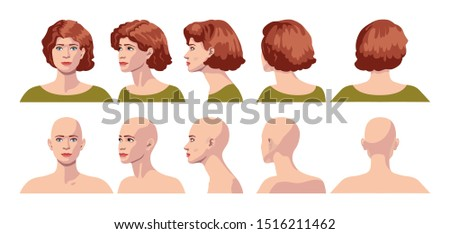 vector image of five angles and