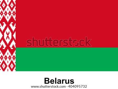 vector image of flag Belarus
