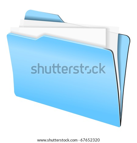 vector image of folder with paper sheets - stock vector