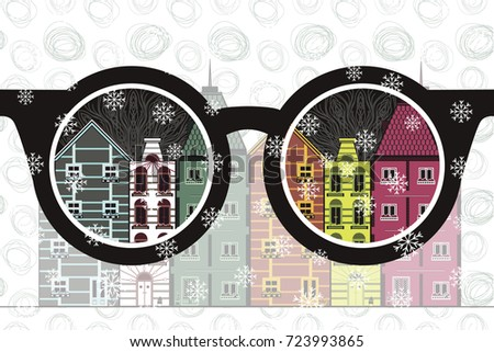 vector image of glasses and